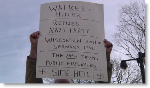 Tax $$ To Be Spent On Preserving Signs From Wisconsin Union Rallies!