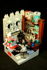 Alchemist's Tower (Siercon and Coral) Tags: castle lego wizard magic laboratory murder vignette clue alchemy potion moc murderousminifigscompetition