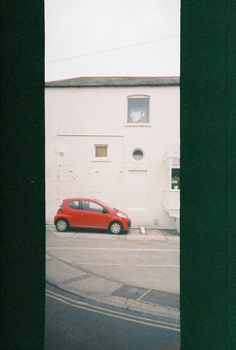 Red Car With Window Poster