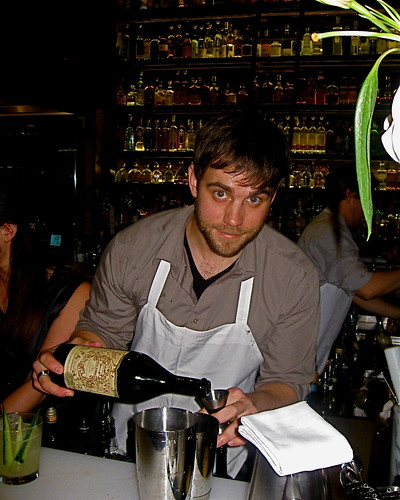 Mixologist Julian Cox at Playa bar