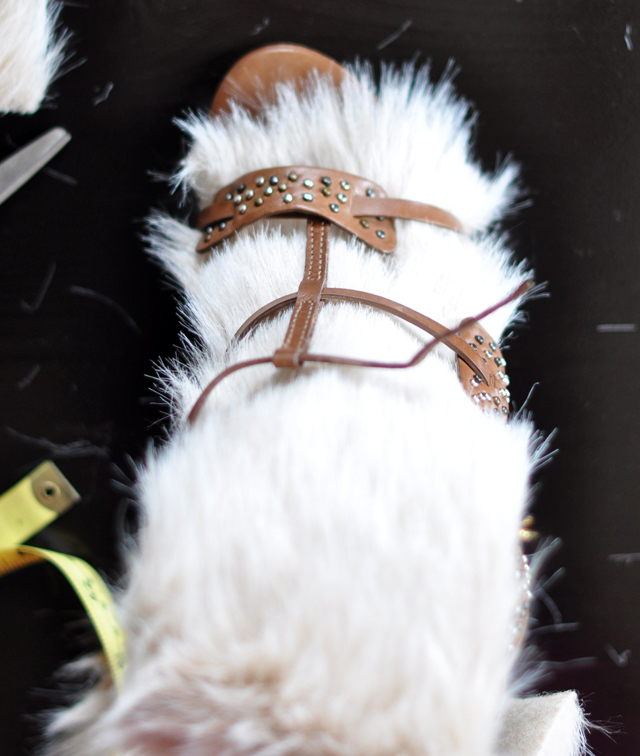 Fur Sandals DIY