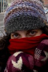 Brisk (Bhlubarber) Tags: street city winter urban woman cold calgary club scarf underground downtown sandra empty warehouse alberta 90s paternal s95 plexis davidniddrie towue