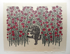 """BIG, BAD WOLF"" Woodcut Print (Tugboat Printshop) Tags: art print printmaking woodcut woodblock woodblockprint woodcutprint affordableart paulroden tugboatprintshop valerielueth"