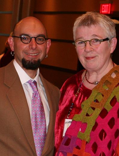 With Vivian Hoxbro