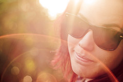 red february sun (Sarah Nieves) Tags: portrait sun girl face sunglasses bokeh flare smirk wayfarer sunflare raybans femle project365