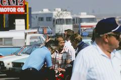 1975 Mar - Cal 500 - Ontario - Owners Summit - Roger Penske, Parnelli Jones, Dan Gurney (Elias555) Tags: cal 1975 500 gurney penske parnelli