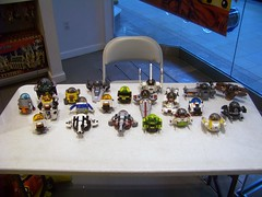 LEGO store - Show-n-tell - Space PODs (Slayerdread) Tags: lego frogs lifeonmars ghl blacktron satrwars marsmission spacepolice