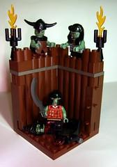Clue - The Orcish Way! (Azaghal Gabilzaramul) Tags: castle lego contest remix vignette clue cluedo orcs murderousminifigscompetition