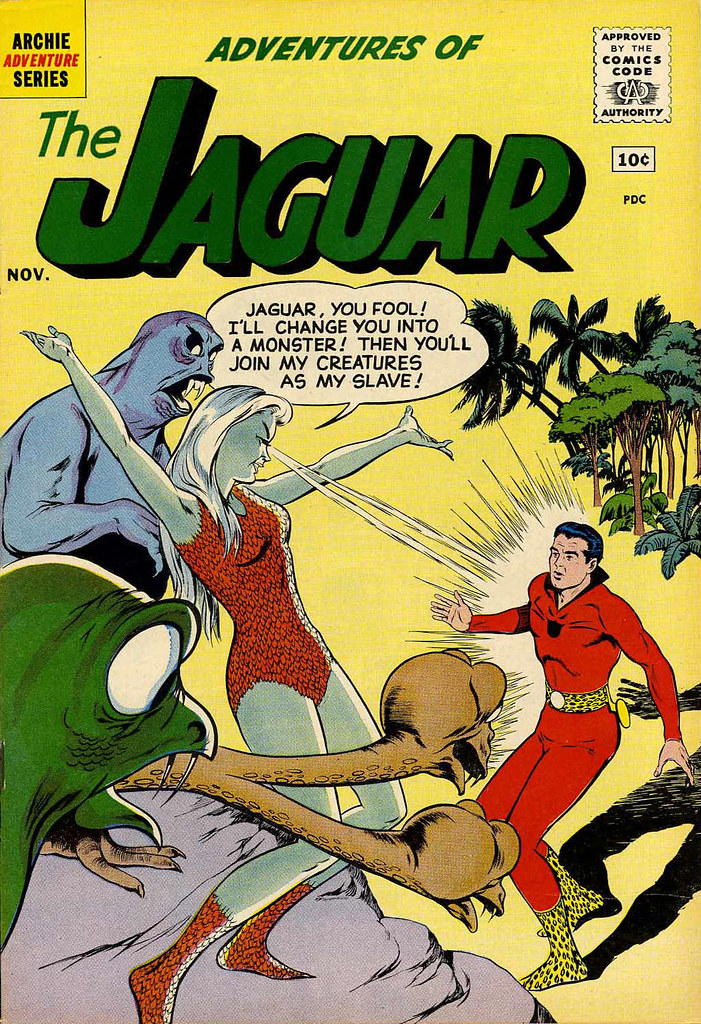 Adventures of the Jaguar #3 John Rosenberger Cover (Archie, 1961)
