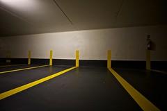 (nobodinoz) Tags: urban yellow jaune parking perspective 5d uga ff personne lignes urbain unplace 14mm gomtrique nonlieux 14lii