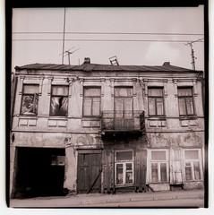 ... (akulis2) Tags: 6x6 downtown oldhouse 1981 lithuania kaunas sovietcamera salyutscamera