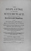 Title page of The displaying of supposed witchcraft