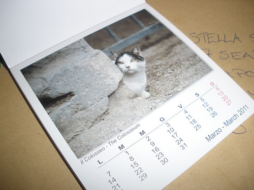 Roman cats calendar from Helja