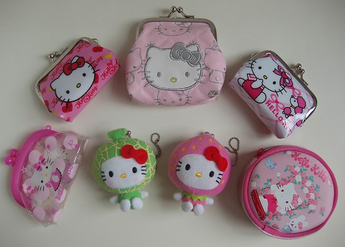 Sanrio Hello Kitty coin purses by polpettinakawaii