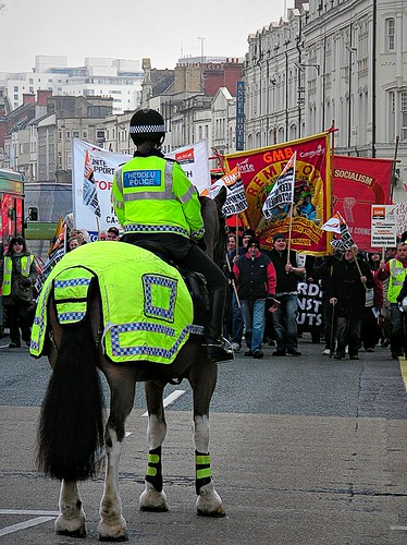 Budget Cut Protests-Cardiff