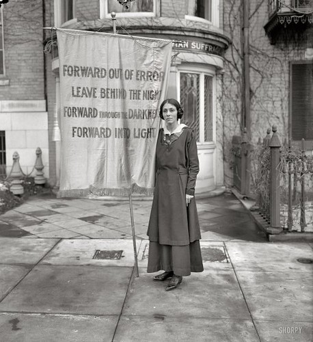 womenCongressional Union for Woman Suffrage, 1916. One of the banners used in a memorial service for Inez Milholland, the lawyer who became a martyr to the suffrage movement