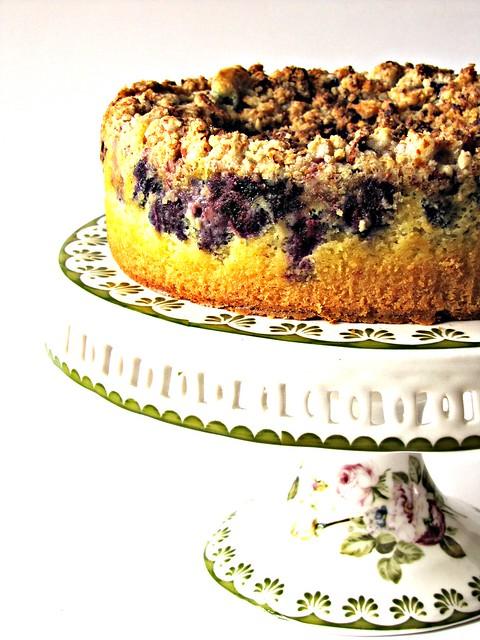 Torta Streusel ai Mirtilli