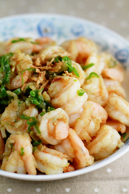 Udang Sambal Ijo - Shrimps in Spicy Green Chilli