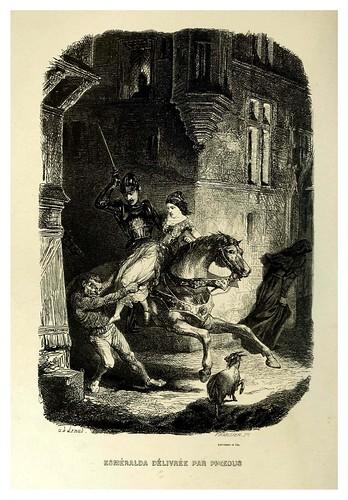 007-Esmeralda liberada por Febo-Notre-Dame de Paris 1844- edicion Perrotin Garnier Frères