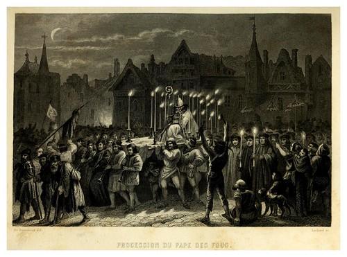 018-Procesion del papa de la locura-Notre-Dame de Paris 1844- edicion Perrotin Garnier Frères