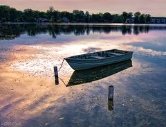 Boat at dusk (Dennis Cluth) Tags: art boat nikon michigan d90