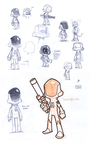 Robot 44 Concept Sketches