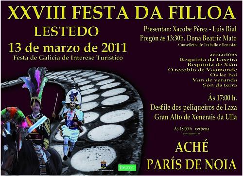 Boqueixón 2011 - Festa da Filloa de Lestedo - cartel