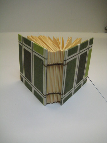 Board cover, coptic binding small book
