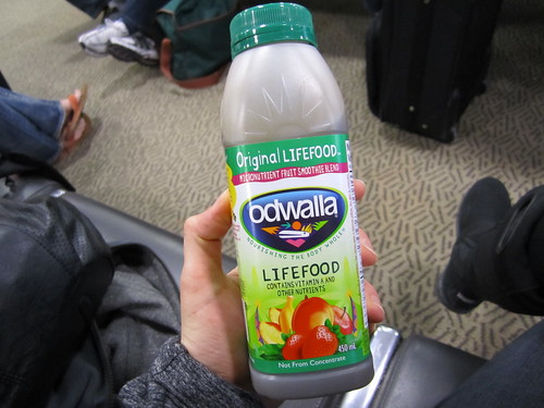 Odwalla Smoothie for Breakfast in YOW Airport