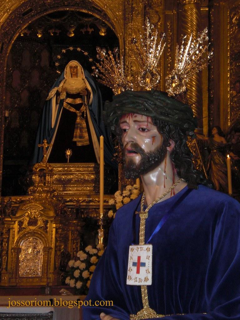 Bendición de Ntro. Padre Jesús Cautivo de Medinaceli, de Ciempozuelos, en la Basílica de la Macarena en Sevilla.