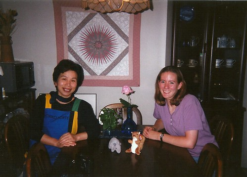 Mrs. Izumi and me, Sendai, Japan, 1998