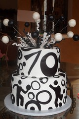 "Black and white birthday cake • <a style=""font-size:0.8em;"" href=""http://www.flickr.com/photos/60584691@N02/5524766417/"" target=""_blank"">View on Flickr</a>"