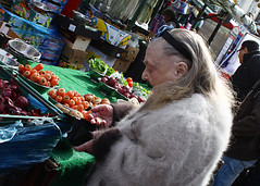 Money (Che-burashka) Tags: street london vegetables lady coins stall deptford oldage recession londonist spn spnp streetphotographynow streetphotographynowproject