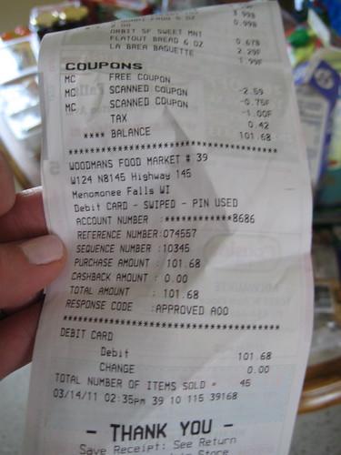 woodman's receipt