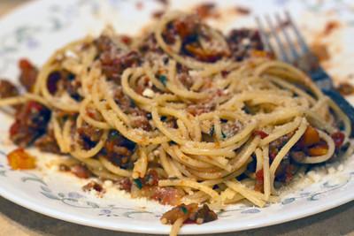 Spaghetti w/Quick Meat Sauce