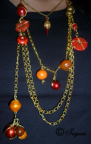 m drops of fire necklace by Divya
