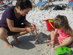 Playing in the Sand at WaterColor Beach
