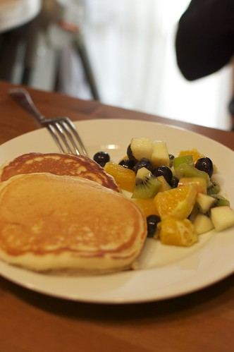 Buttermilk Pancakes and Fruit Salad