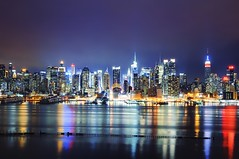 the 52.5mm view (andrew c mace) Tags: nyc newyorkcity longexposure urban skyline night newjersey cityscape manhattan rockefellercenter midtown timessquare hudsonriver empirestatebuilding chryslerbuilding 42ndstreet bankofamericatower hamiltonpark newyorktimesbuilding photomatix colorefex nikoncapturenx nikkor35mm nikond90 exposurefusion visipix