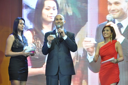Host Nikki Gil with TBR Country Manager Fabio Moretti