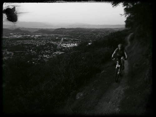 The ridge line above Newbury Park has to be the sweetest stretch of singletrack in Ventura County - tight, lush, rolling and windy. by BroAndDonna