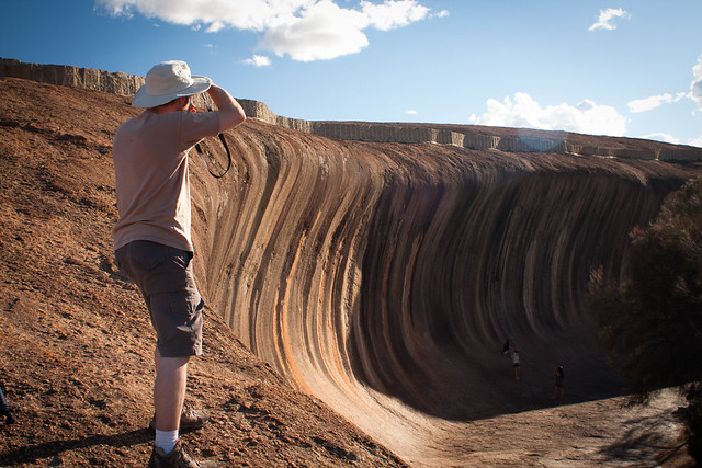 Shooting Wave Rock