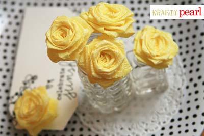 blog - crepe paper roses details 1