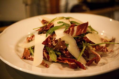 Beef heart salad