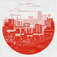 Rebuild Japan (invisibleElement) Tags: japan shirt illustration design relief threadless vector submission causes rebuild invisibleelement