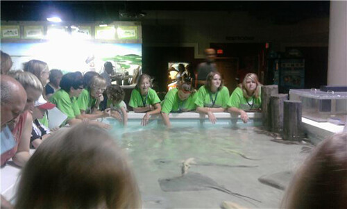 Students at Aquarium