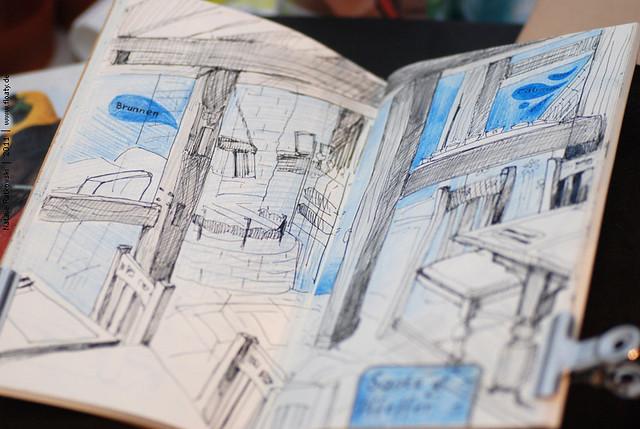 """Sketch at """"Salz und Pfeffer"""" restaurant"""