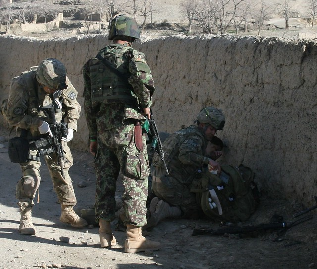 U.S. troops wounded in an IED. David Axe photo