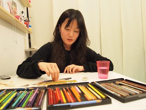 Miju at work
