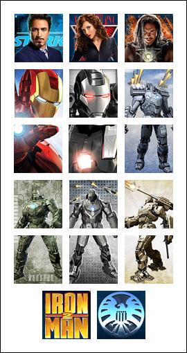 free Iron Man 2 slot game symbols